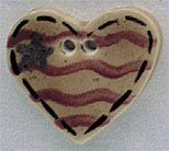 86228 - Old Heart Flag 7/8in x 3/4in - 1 per pkg